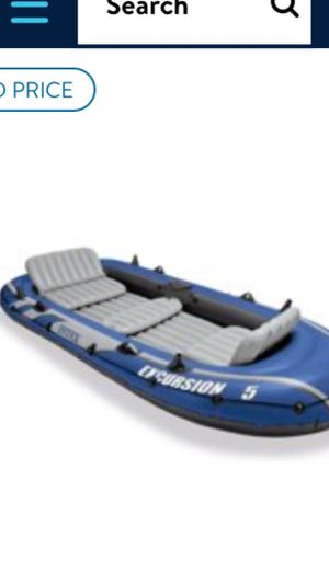 12ft inflatable boat with trolling motor marine battery and charger for battery for Sale in Sacramento, CA