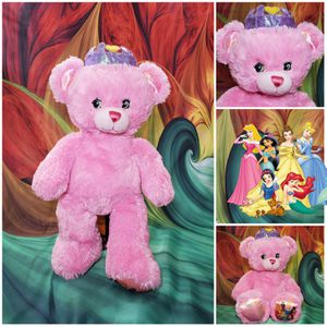 "16"" Build-A-Bear Disney Princess Pink BABW Stuffed Plush Teddy Cinderella Ariel for Sale in Hallettsville, TX"