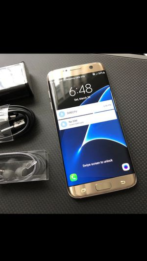 Samsung Galaxy S7 EDGE - just like new, factory unlocked, clean IMEI for Sale in Springfield, VA