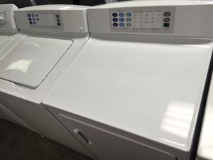 GE PROFILE WASHER DRYER KING SIZE VERY CLEAN WORKS GREAT DELIVERY for Sale in Fort Washington, MD