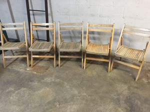 CRAFTERS! Paint these 5 Vintage Wood Chairs for Sale in St. Louis, MO