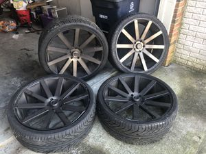 "DubRims w/tires 26"" $250 each for Sale in Fort Washington, MD"
