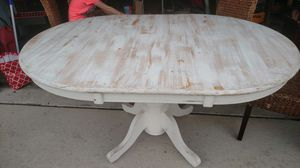 White chalk painted kitchen table for Sale in Cypress Gardens, FL