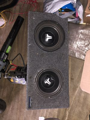 JL audio Subwoofer. Works but one speaker ripped. for Sale in Bensalem, PA