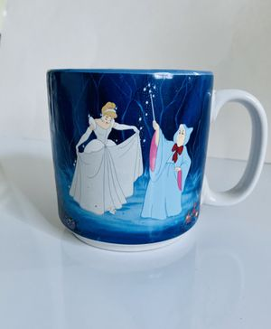 Original Disney Cinderella Collectible 24oz Coffee Tea Mug. Blue Inside And Out.. Condition is barely used. Looks new. No scratches, no chips. Shippe for Sale in Centreville, VA