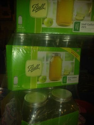 Ball canning jars, 1/2 gall. for Sale in Portland, OR