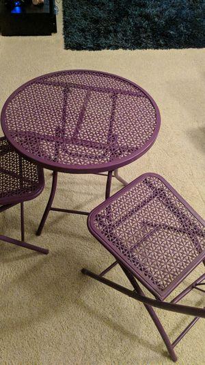 Patio furniture metal purple for Sale in Broomfield, CO