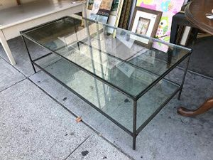"""#30344 Modern Iron & Glass 22 x 48"""" Coffee Table for Sale in Oakland, CA"""