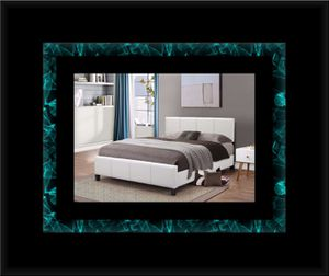 White platform bed with mattress and box for Sale in Manassas, VA