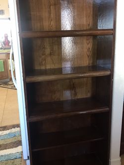 Wood Book Shelf For Sale $50 OBO! Need Gone ASAP for Sale in Phelan,  CA