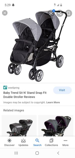 Baby trend snap fit double stroller for Sale in Salt Lake City, UT