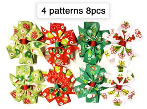 8pcs Xmas Christmas Ribbon Hair Clips for Sale in Norfolk, VA