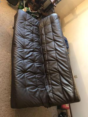 Futon: leather foldable bed for Sale in Milwaukee, WI