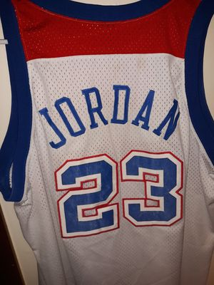 Jordan 23 Retro Jersey Authentic Bullets - Stiched & NBA logo for Sale in Bloomington, IL