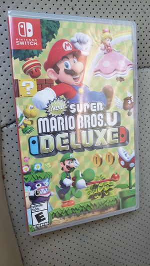 Mario Bros U Deluxe U Nintendo Switch game brand new Sealed never opened. for Sale in Houston, TX