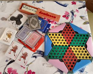 New cards, Domino, spinner, Marble checkers, chess for Sale in San Francisco, CA