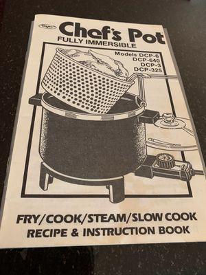 Dazey Chef's Pot Cooker, Fryer, Steamer for Sale in Fairfax, VA