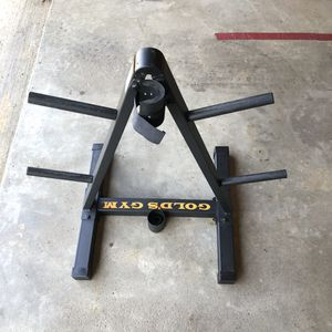 Weight tree with Olympic barbell storage for Sale in Reynoldsburg, OH
