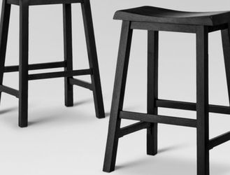 Dark Brown Wood Bar Stools (2) for Sale in New York,  NY