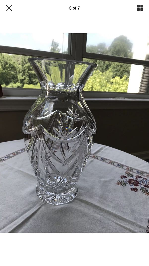 Large Waterford crystal Georgetown vase 12 inches Excellent condition