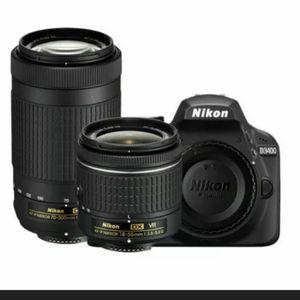 BRAND NEW Nikon D3400 24.2MP Black Digital SLR Camera 18-55 VR + 70-300 KIT. for Sale in Washington, DC