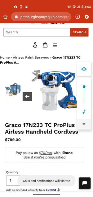 DeWalt tc pro cordless airless handheld painter for Sale in Tarpon Springs, FL