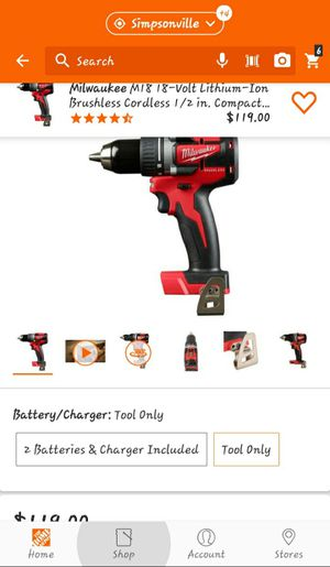 Milwaukee M18 1/2 inch brushless drill driver tool only for Sale in Clemson, SC