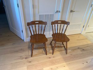 Wooden kitchen chairs set of 2 for Sale in Washington, DC