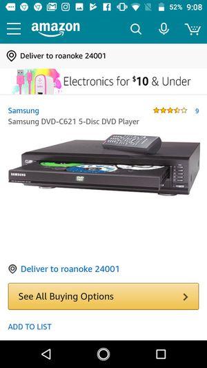 Samsung 5 dvd/CD changer no remote for Sale in Roanoke, VA