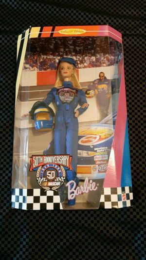 50th anniversary Nascar Barbie, NIB, Awesome condition! for Sale in Sioux Falls, SD