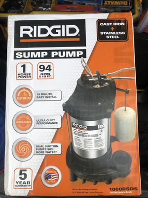 Ridgid sump pump for Sale in Wethersfield, CT
