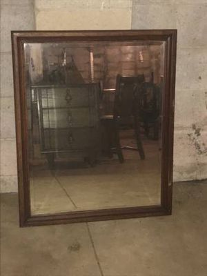 Dark wood mirror for Sale in Columbus, OH