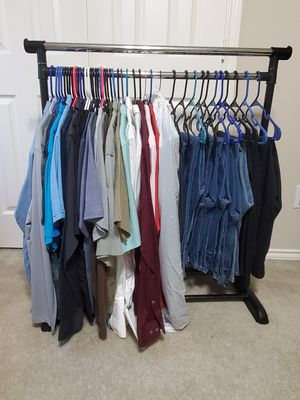Mens clothes lot ( shirts M/L & pants 34x30) for Sale in Cypress, TX