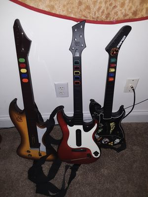 3 Wireless Guitars for Playstation 2 and 3- *NO RECIEVERS* for Sale in Durham, NC