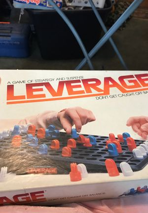 Milton Bradley Leverage Board Game Vintage for Sale in Woonsocket, RI