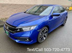 Blue 2019 Honda Civic sport 2000 miles for Sale in Portland, OR