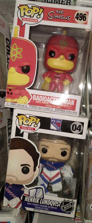 Funko Pop: Radioactive Man 496; Henrik Lundqvist 04 for Sale in El Paso, TX