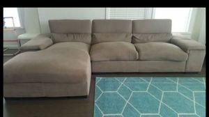 Used Modern Italian made fabric sectional sofa for Sale in Stone Ridge, VA
