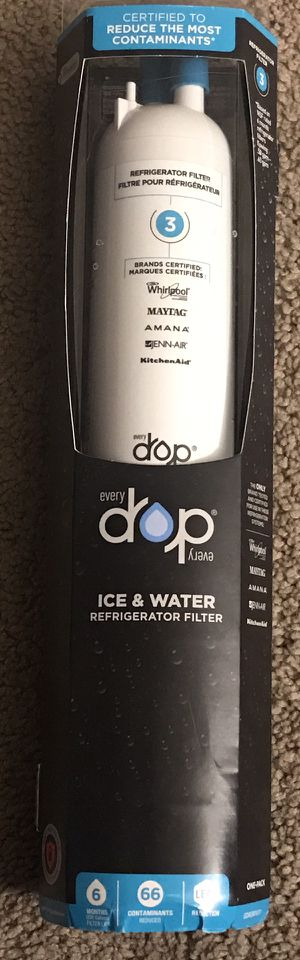 Whirlpool EveryDrop EDR3RXD1 Refrigerator Water Filter #3- White for Sale in Bensalem, PA