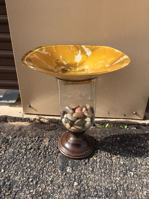 Pretty Bird Bath for your garden with natural shiny rocks...simple for Sale in Bayfield, CO