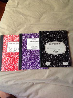 Colored composition note books for Sale in Falls Church, VA