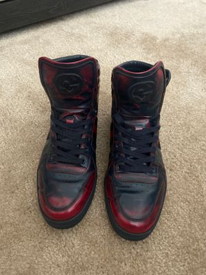 Men's Gucci High Top Sneakers (Red & Blue) for Sale in Haines City, FL