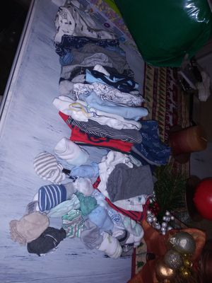 49pieces. Bandle of baby boy clothing newborn & 0-3 months for Sale in Bay Point, CA