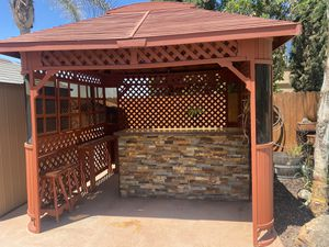 10'x10' gazebo with custom bar top. for Sale in Discovery Bay, CA