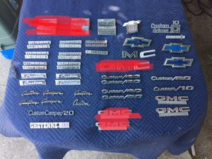 C10 c20 c30 Chevy Gmc truck parts fender door emblems for Sale in Modesto, CA
