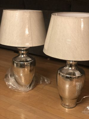 Brand new set of 2 mercury blown glass lamps. Retails for over $250 for Sale in Fowler, CA