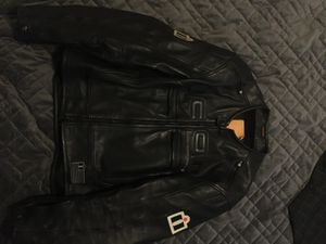 Black leather motorcycle jacket for Sale in San Diego, CA