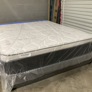 New Queen Actualite Orthopedic Cushion Firm Pillow Top Mattress And Box Spring. Free Local Delivery for Sale in Winter Park, FL