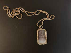 Platinum Charm and 14k Solid Gold Rope Chain for Sale in New York, NY