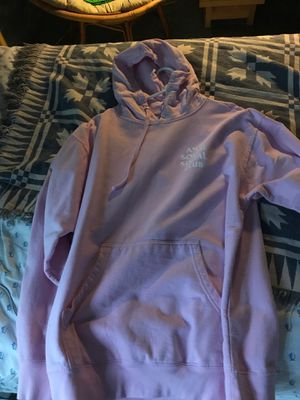 BRAND NEW 100 % authentic ASSC anti social social club hoodie pink size large for Sale in Rockville, MD